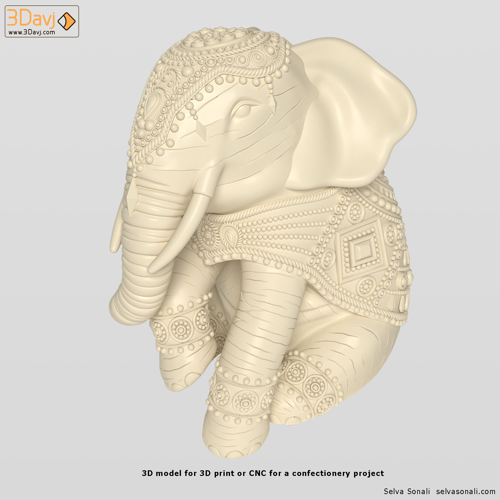 3d-model-for-cnc-indian-elephant-1